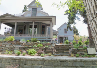 Historical House Retaining Wall and Steps