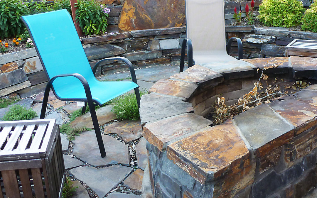 Patio, Retaining Wall and Fire Pit